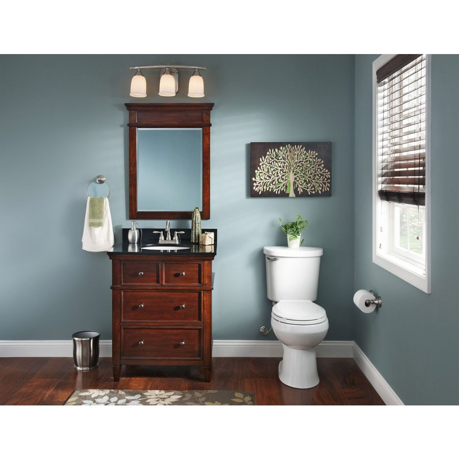 Shop allen + roth Hartley Mink Undermount Single Sink Bathroom ...