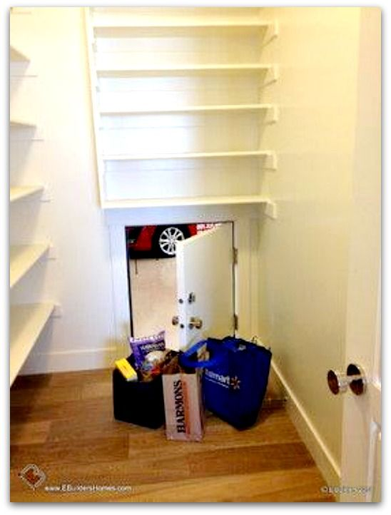 pantry door from the garage - I wish I could do this! next house ...