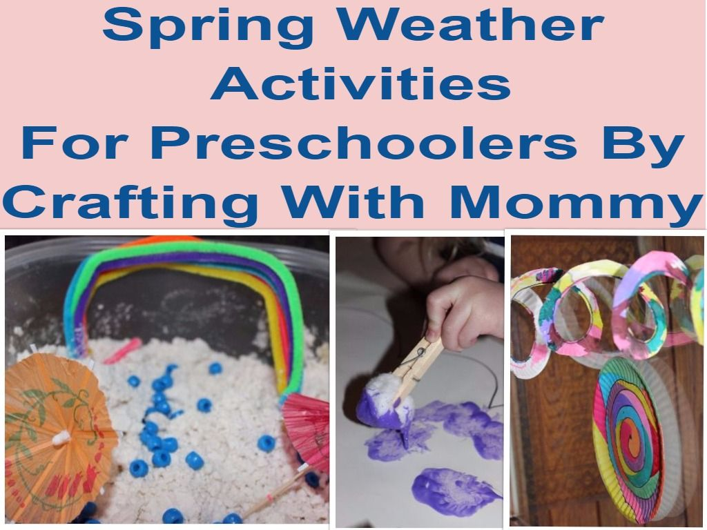 Spring Weather Themed Activities For Preschoolers With