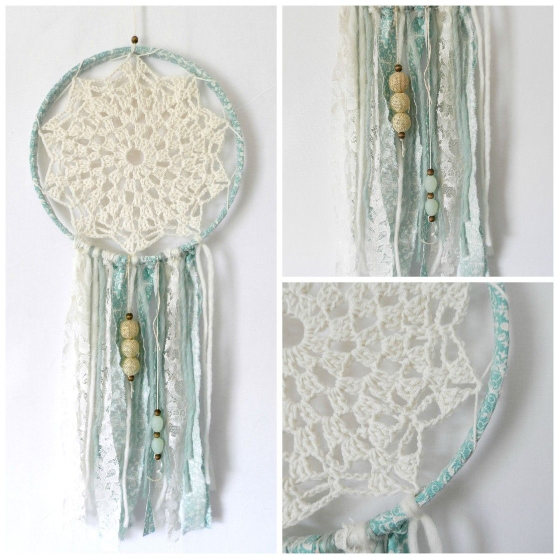 DIY Crochet Dream Catcher The link for the Crocheted Center is in ...