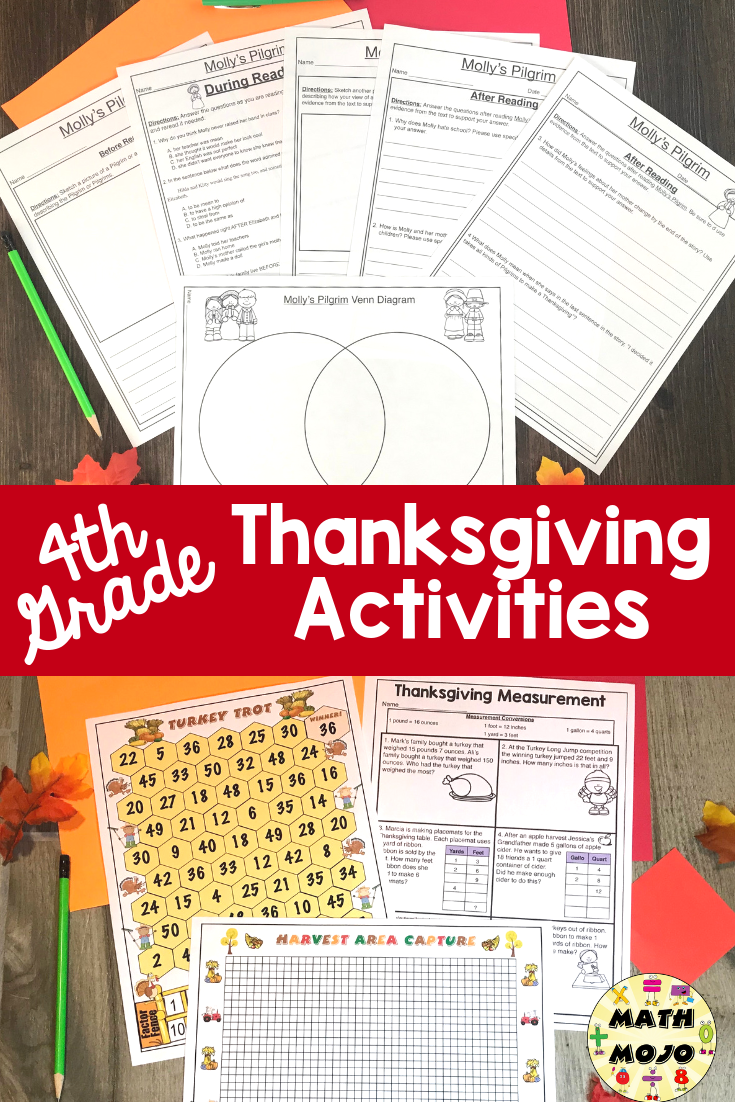 hight resolution of 4th Grade Thanksgiving   Thanksgiving units