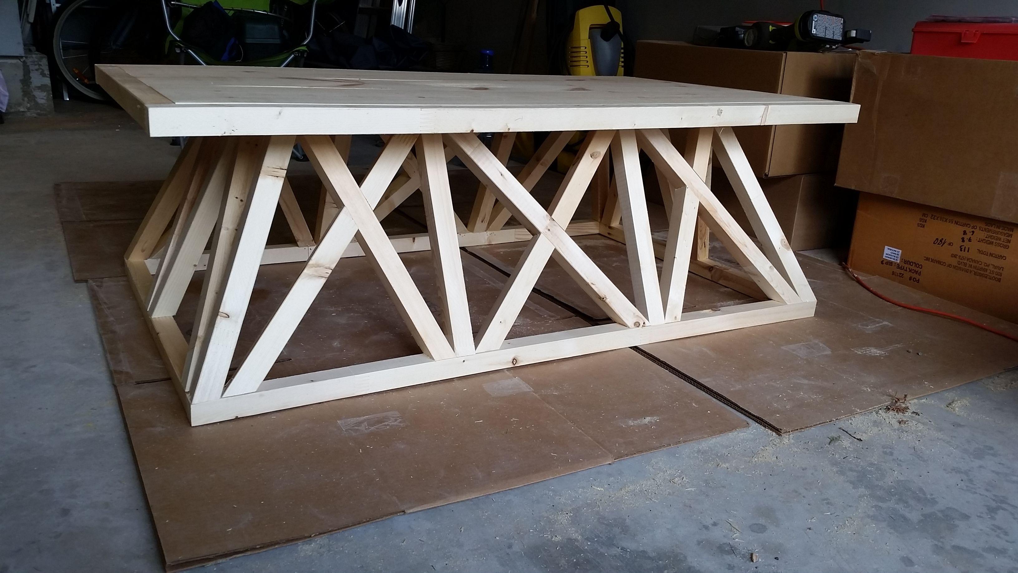 Exceptionnel Restoration Hardware Trestle Door Coffee Table Diy Brag Post,  @remodelaholic.com