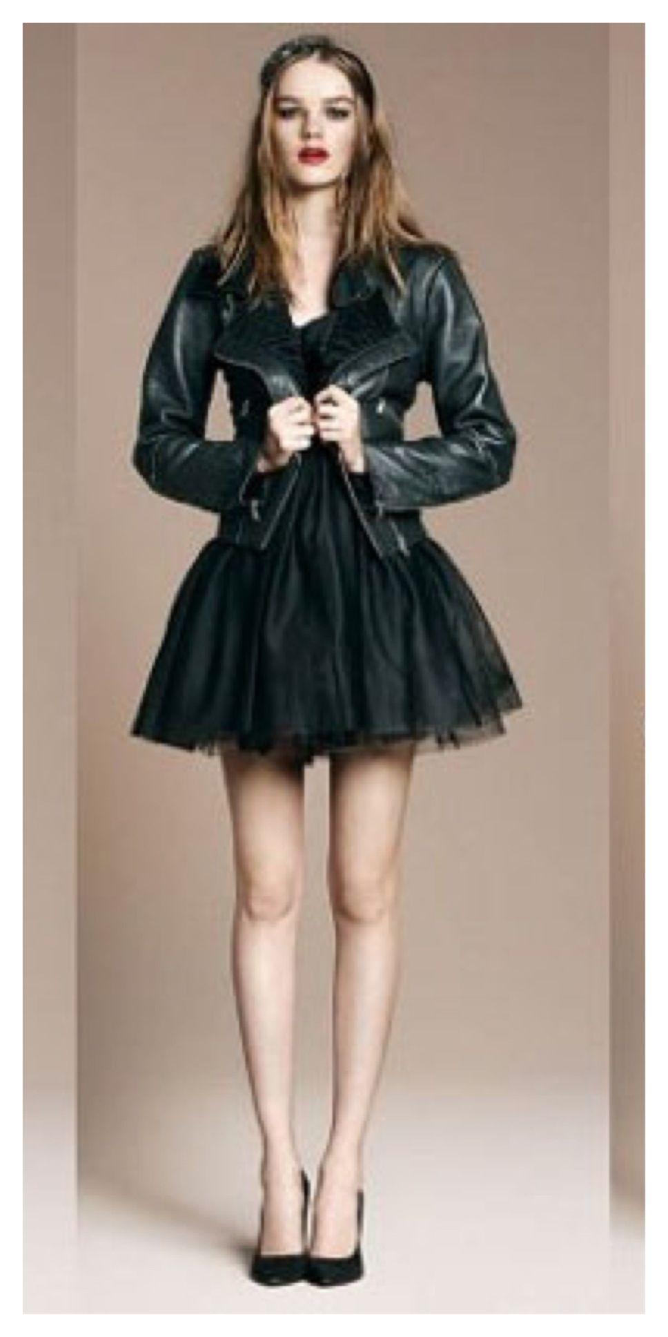 leather prom dress Fashion, Dresses, Leather jacket dress