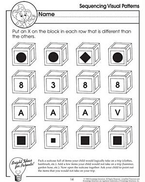 Sequencing Visual Patterns Free Critical Thinking Worksheet For Kids Sequencing Worksheets Have Fun Teaching Worksheets