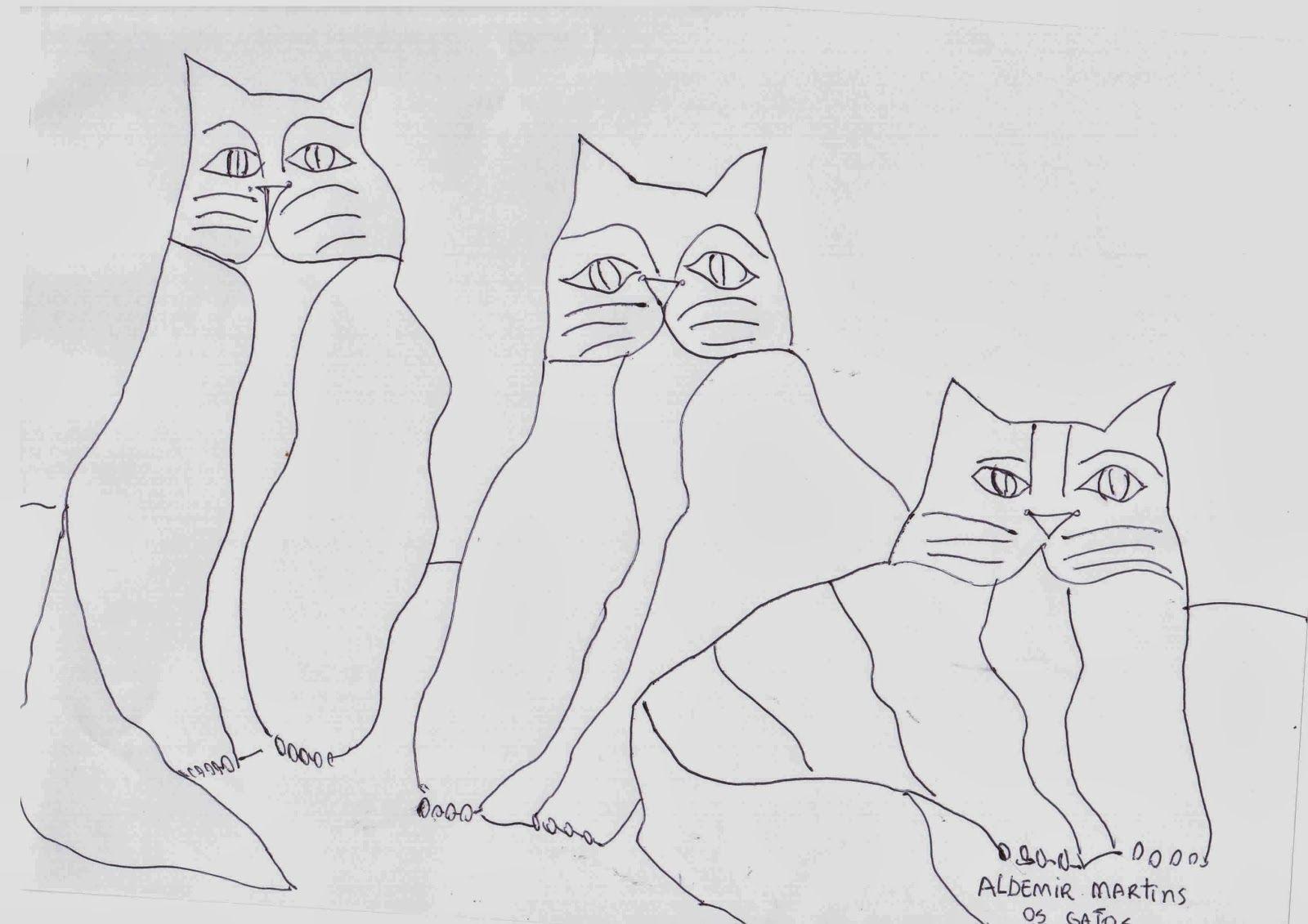 Aldemir Martins Para Colorir Os Gatos Com Imagens Aldemir