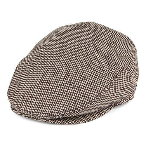 7a2457d1040d10 Jaxon & James Pearson Pure Wool Flat Cap - Brown-Cream LARGE Village  Hats