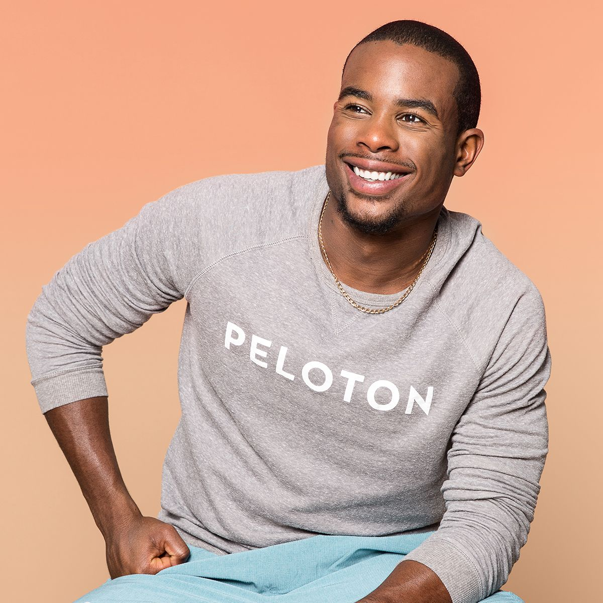 5ed15feff1210 Instructor Alex Toussaint wears the Z-Supply Peloton Mens Crew Pullover