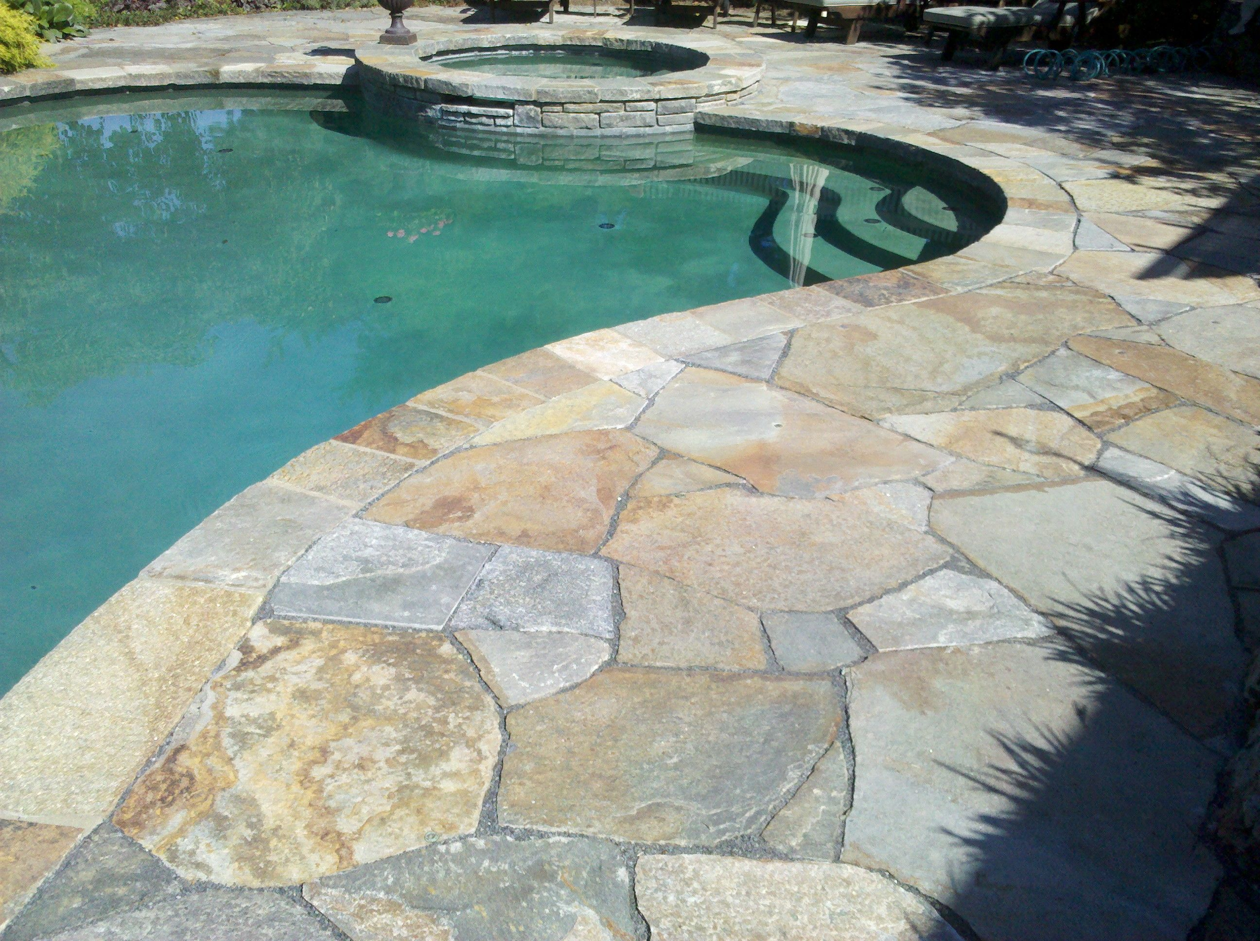 Natural Stone Pool Decks Google Search
