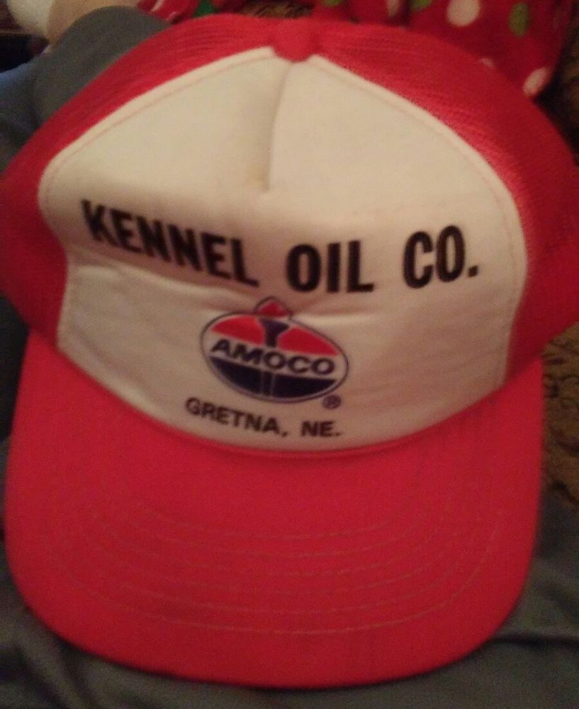 cf6b4c422fa14b Amoco Hat Cap Gretna Nebraska Petroleum   Oil Snapback 70s 80s Vtg Trucker  Mesh  Cap
