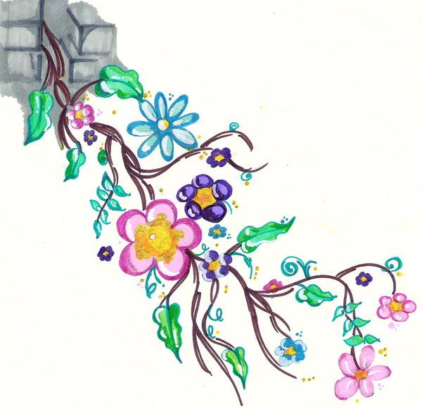 Tattoo Designs Vines And Flowers: Flower Vine Tattoo Design By Scandalouscombo On Deviantart