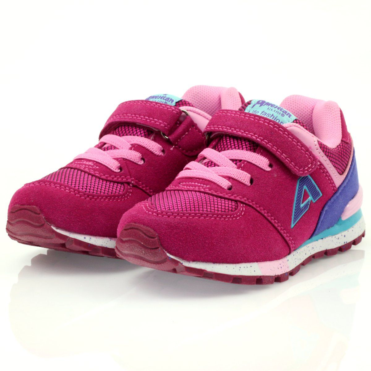 American Club American Adi Sportowe Buty Dzieciece 15110 Rozowe New Balance Sneaker Brooks Sneaker Sneakers