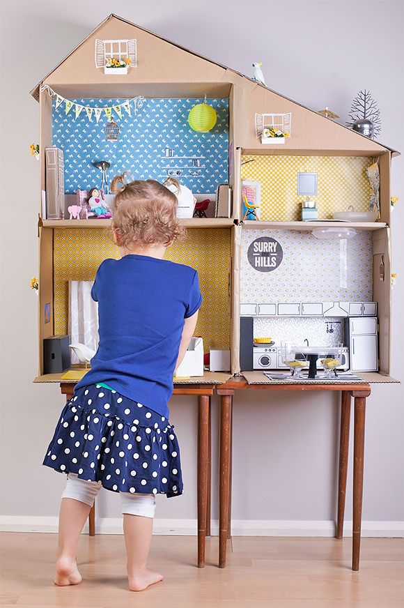 Shoe Box Dollhouse Craft For Kids: 6 Ways To Make A Cardboard Dollhouse