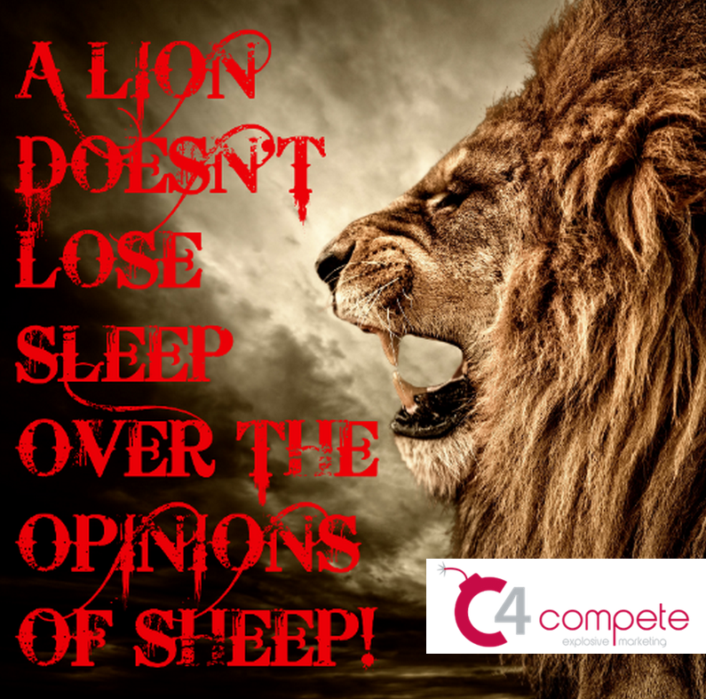A Lion Doesn't Lose Sleep Over The Opinions Of Sheep