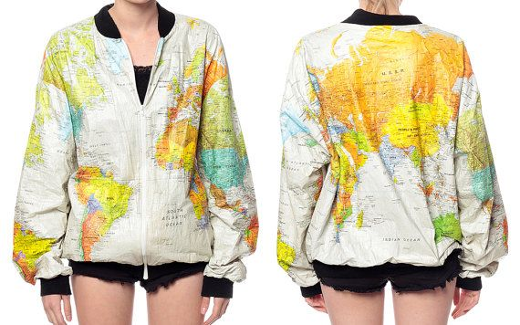 World map jacket 90s tyvek coat ussr white travel bright 1990s world map jacket 90s tyvek coat ussr white travel by shopexile 12400 gumiabroncs Images