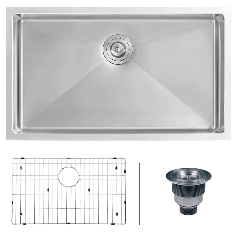 ruvati 16 gauge stainless steel 30 inch single bowl undermount rh pinterest com