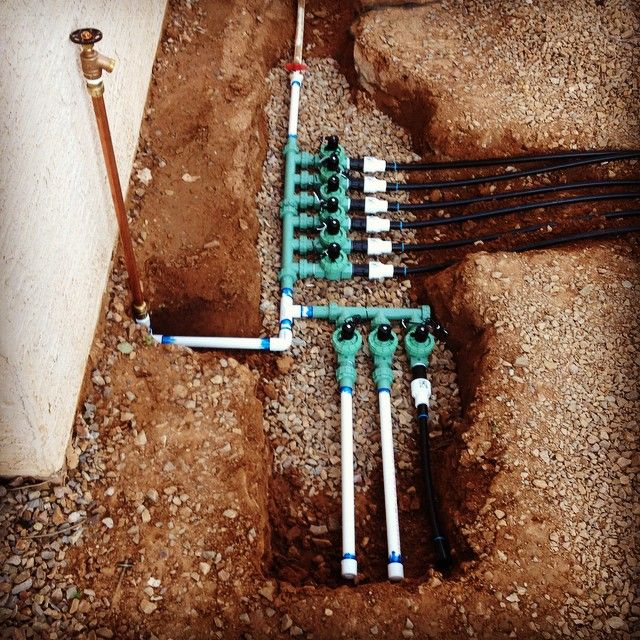 Built The Valve Boxes For The Irrigation Timers On The