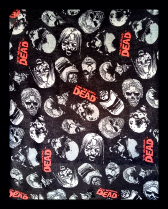 Walking Dead Throw Blankets Amazing Rick Grimes The Walking Dead 5'x5' Throw Blanket On Etsy $3000 Inspiration