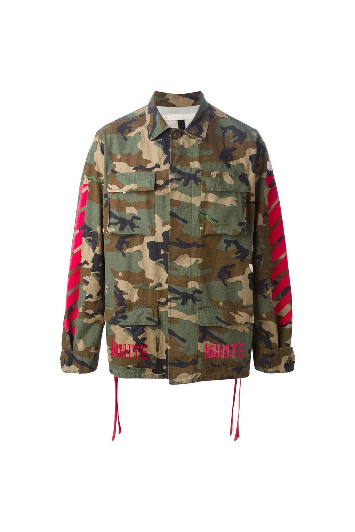 1f0430732a06  Off-White   01 clothing   07 outerwear   01 jacket  Camouflage Field Jacket