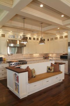 Turn Your Kitchen Into A Hub Where Family Friends Gather Together Island Bench On One Side Home Kitchens Kitchen Island With Seating Kitchen Island Design
