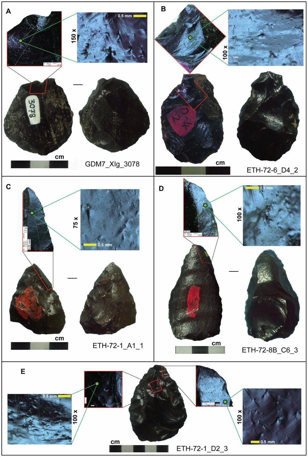 Resultado de imagen para puntas de flechas de obsidiana