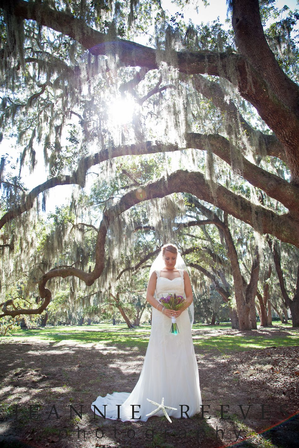 Lovely St Simons Island Wedding Under Live Oak Trees Photographer