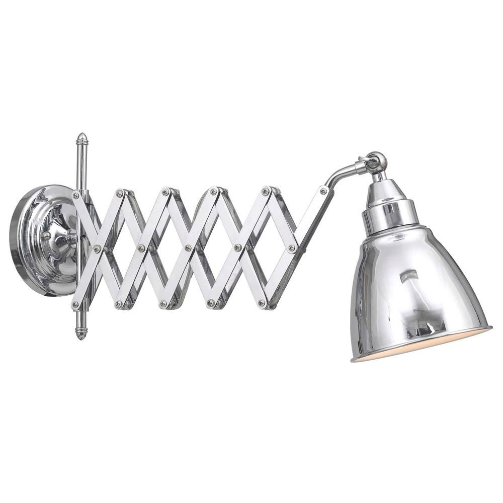 Kenroy Home Accordian 1 Light Chrome Swing Arm Lamp In 2020 Wall