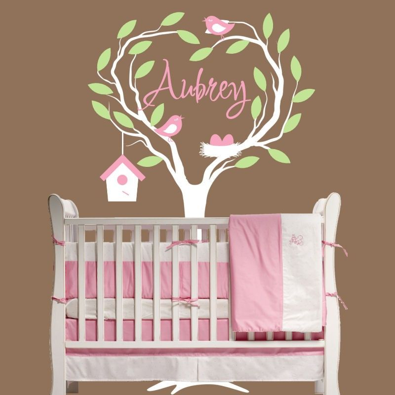 Wall Tree Wall Decal Nursery Personalized With Name Decor - Personalized custom vinyl wall decals for nurserypersonalized vinyl etsy