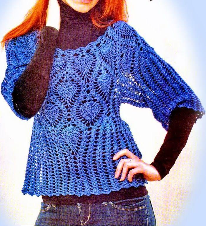 Crochet Sweater: Crochet Pattern of Crochet Pull Dentelle - Sophisticated