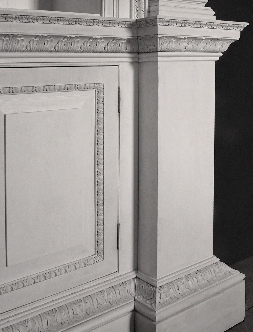 Detail of pedestal showing jib-door closing into inside-corner of pilaster. & Detail of pedestal showing jib-door closing into inside-corner of ... Pezcame.Com