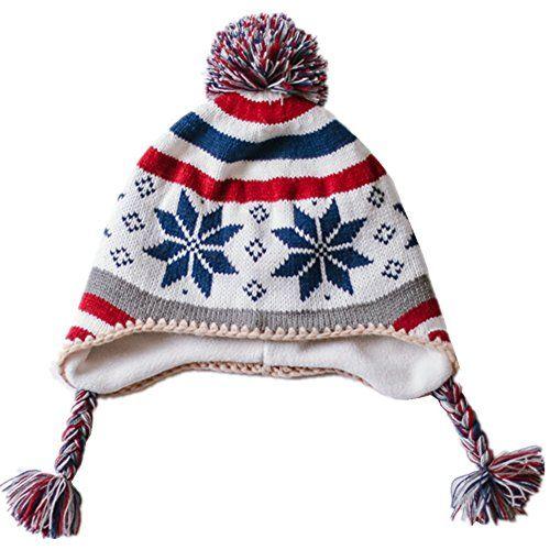 Home Prefer Toddler Girls Boys Kids Fair Isle Christmas Hat Sherpa ...