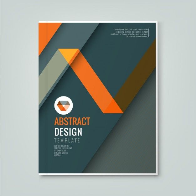 Abstract orange line design on dark gray background template for ...