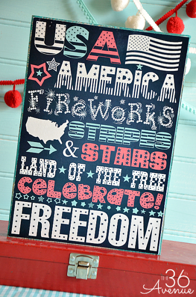 4th of July Free Printable from the36thavenue.com Pin it now and print it later!