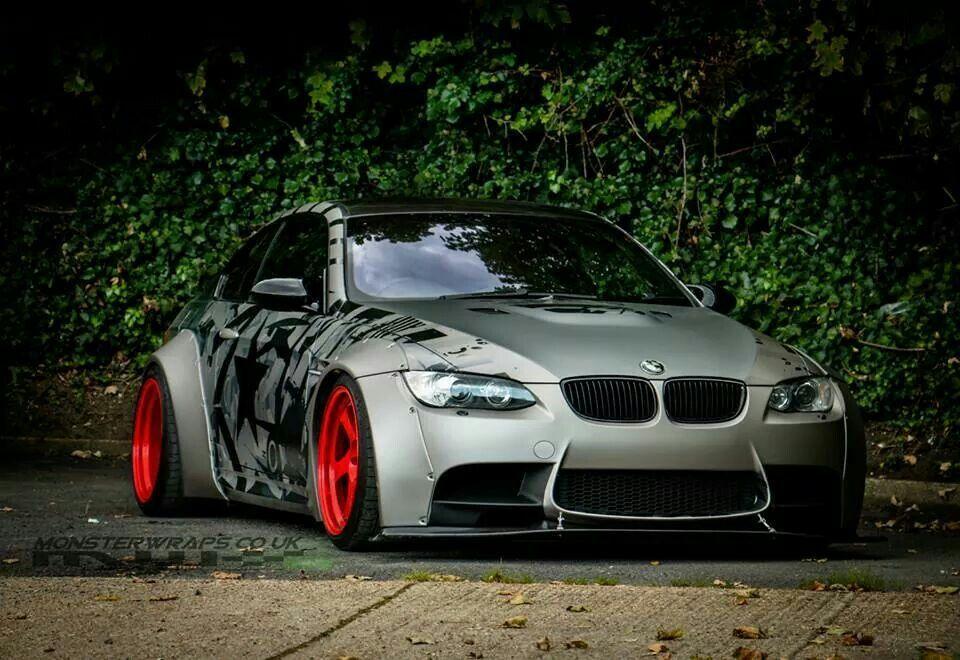 BMW E92 M3 grey widebody Bmw