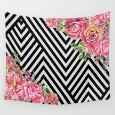 flowers geometric Wall Tapestry