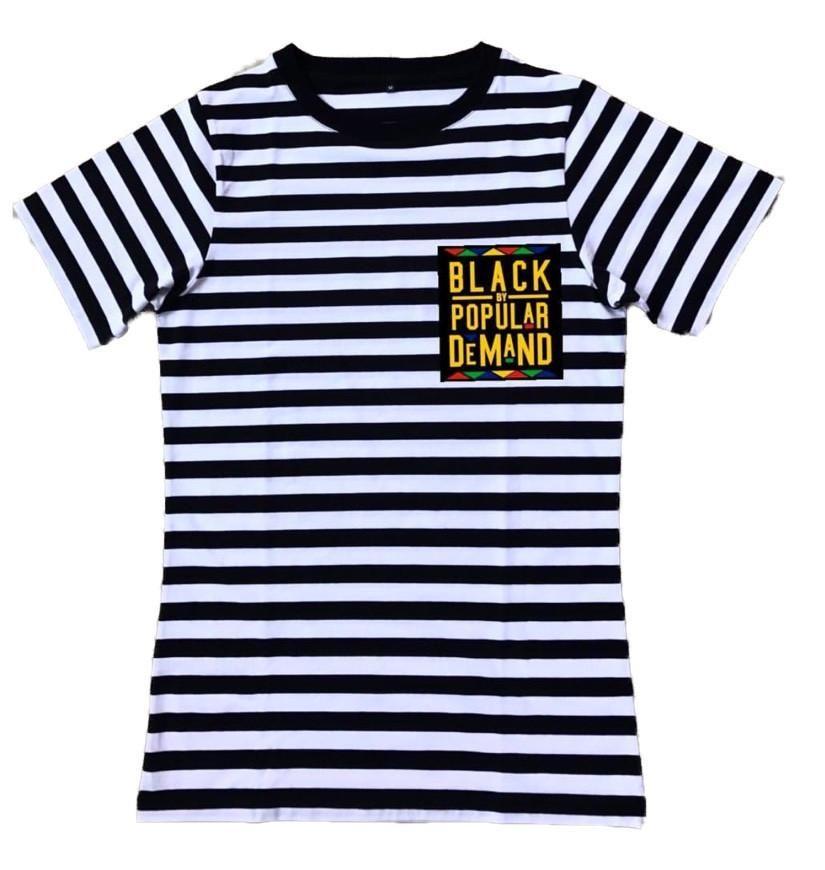 d59e68e4c837 BLACK BY POPULAR DEMAND® Unisex Striped Black & White Pocket Shirt ...
