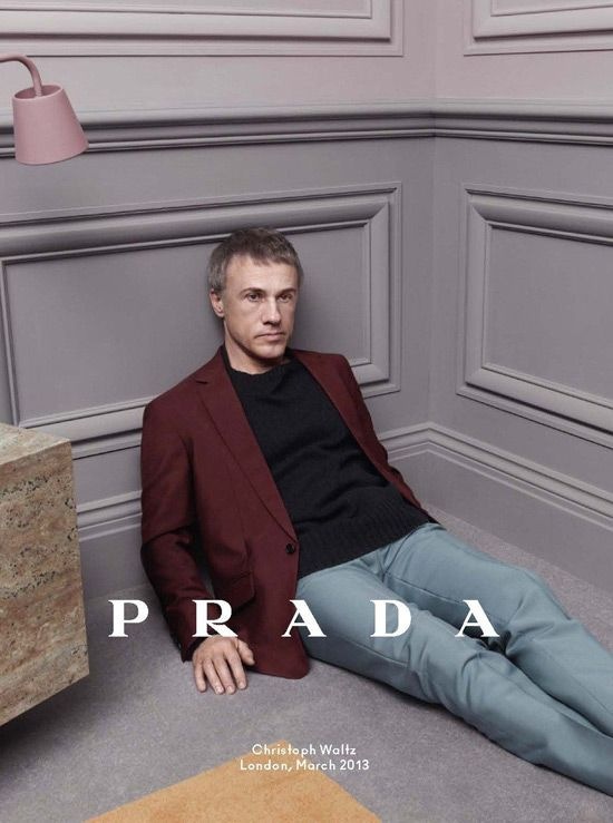 Christoph Waltz, Ezra Miller and Ben Whishaw for Prada Fall 2013 Ad Campaign | Tom & Lorenzo Fabulous & Opinionated
