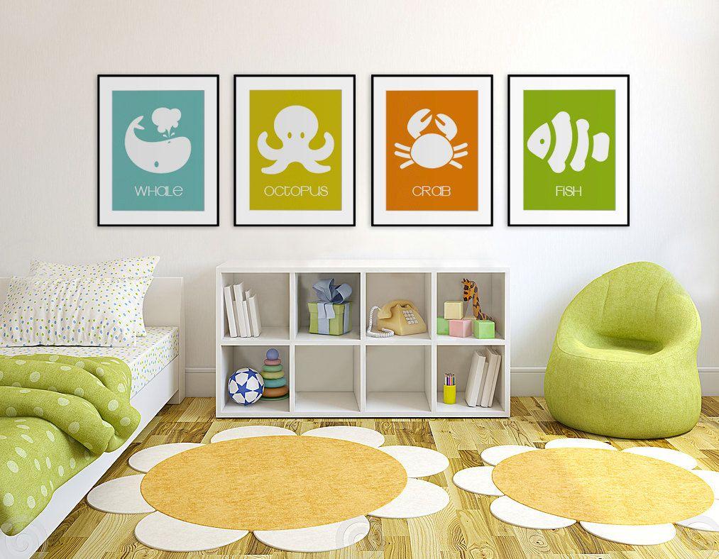 Baby's First Art Print - Whale 8x10 - Children Decor, Children, Baby's Nursery, Nursery Decor, Coastal, Nursery Wall Art, Playroom Decor. $14.95, via Etsy.