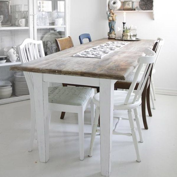 Rustic dining table with very nice patina. The table top is from reclaimed wood. €964