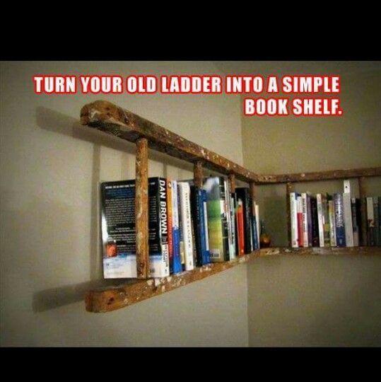 DIY Ladder bookshelf