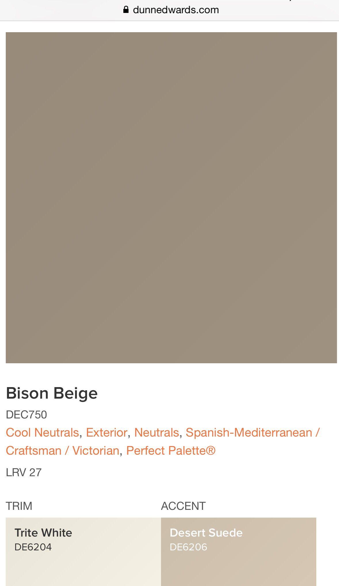 Dunn Edwards Exterior Paint Bison Beige Desert Suede