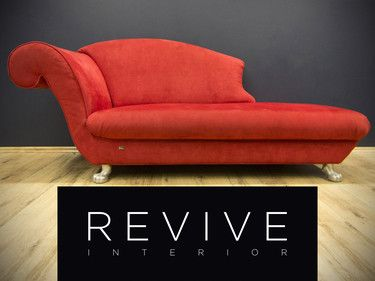 Original Bretz Chaiselongue Rot Muster Sofa Kult