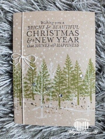 Stampin Up Festival of a Trees, White Christmas  Bright and