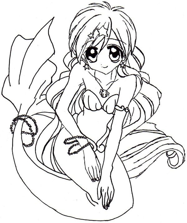 Mermaid Melody Seira Coloring Pages