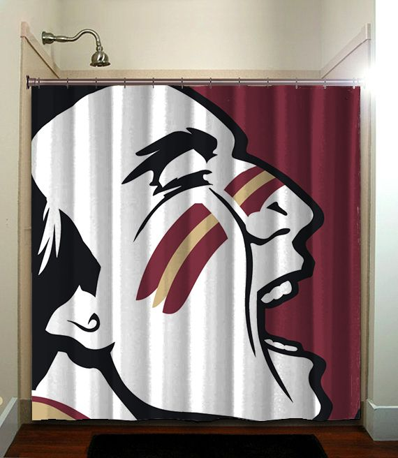 Florida State Seminoles Fsu Ncaa Collage Shower Curtain Bathroom