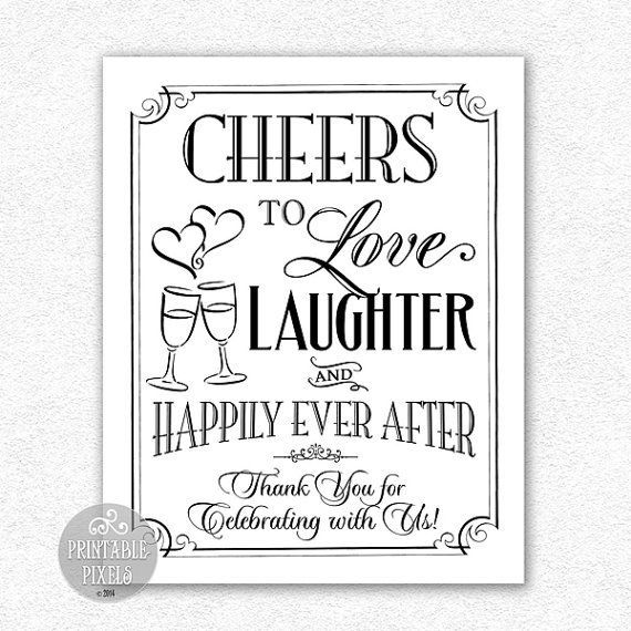 Download cheers wedding sign - Google Search (With images ...
