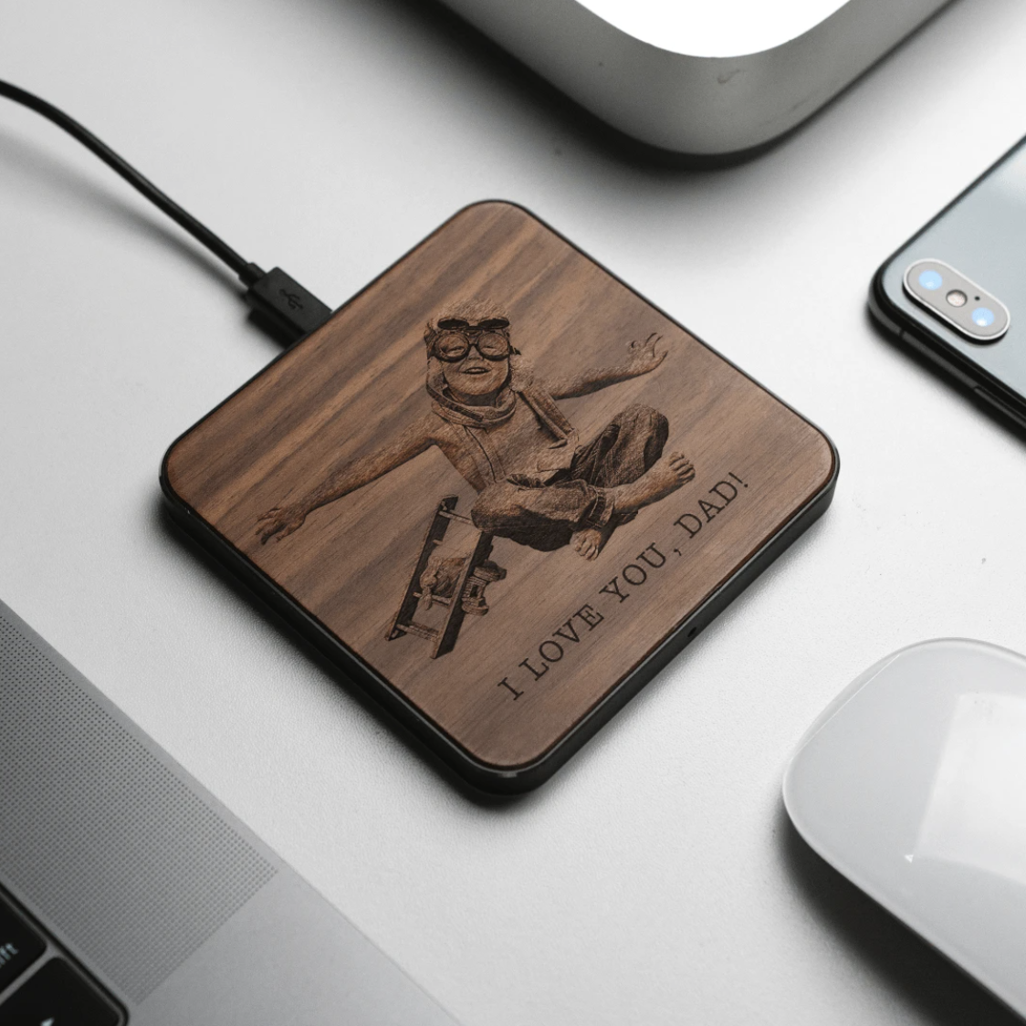Custom Father's Day Charging Pads
