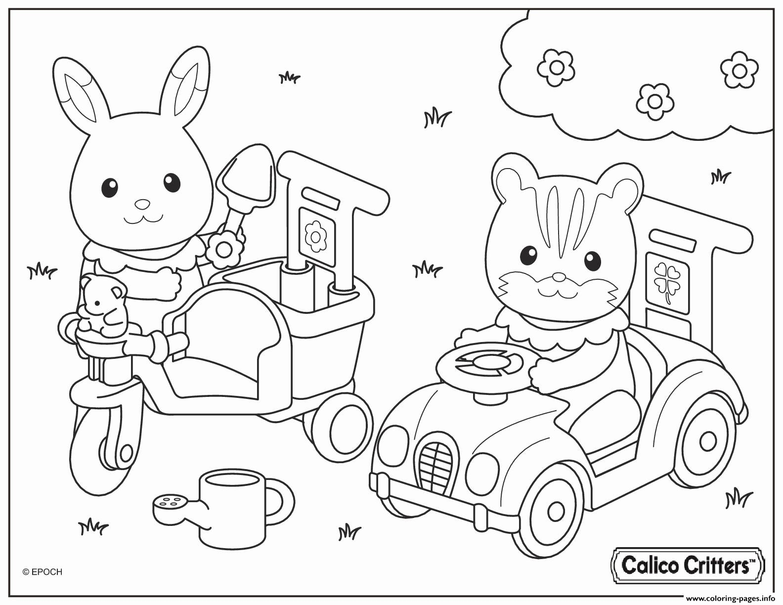 Fun Calico Critter Coloring Activity On Calicocritters Com Family Coloring Pages Coloring Books Animal Coloring Books