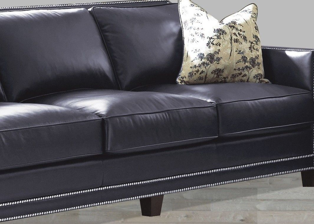 Navy Blue Leather Sofa Nail Head Navy Blue Leather Sofa Blue