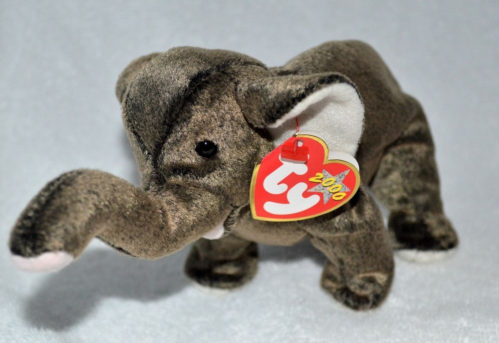 d2866cbfab9 TY Beanie Baby Original  Trumpet the  Elephant Retired Mint w Tags 2000  Ty