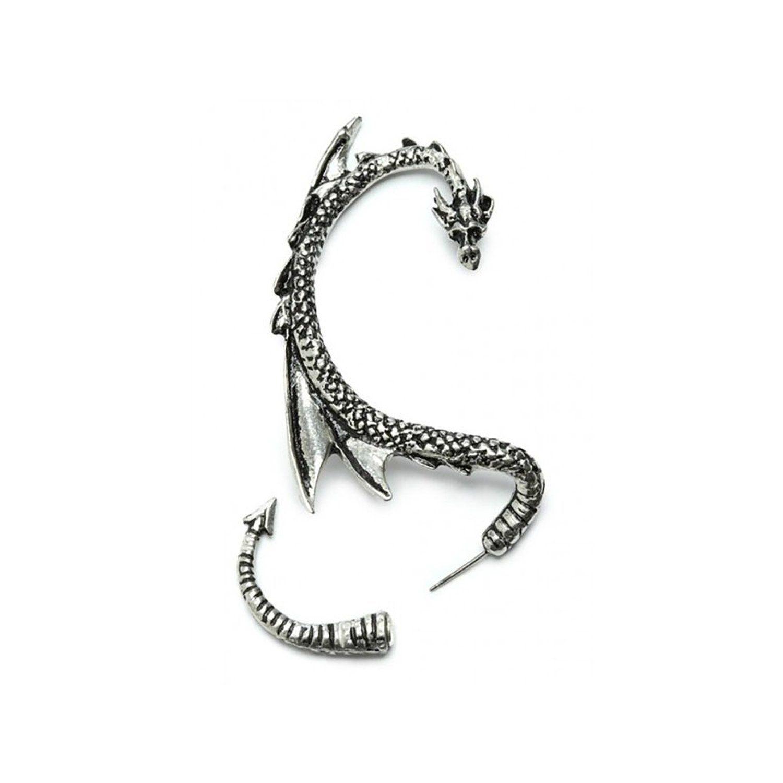 Amazon: Silver Phantom Jewelry Women's Silvertone Dragon Ear Cuff Wrap  Earring Gothic Jewelry